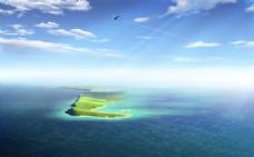 天空 海岛