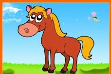 卡通动物唯美小马