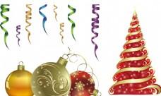 金色圣诞树 丝带