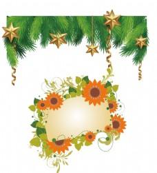 圣诞装饰 鲜花花框