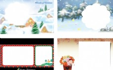 唯美圣诞节贺卡模板系列