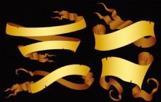 金色标语幅羊皮卷