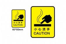 小心烫手标识