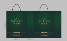 墨绿色纸袋手提袋设计