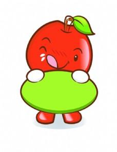 矢量卡通苹果印花图案