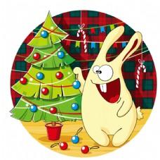 圣诞树和兔子