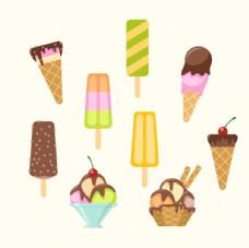 9款美味夏季雪糕矢量素材