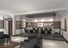 简约会议室3d模型