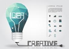创意思维灯泡背景