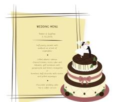创意婚礼蛋糕菜单