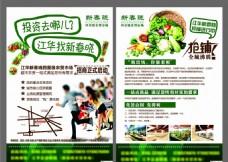 农贸超市招租单页