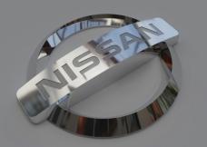Nissan logo 模型