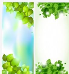 绿色树叶展架 易拉宝