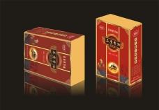 香油礼盒平面展开图