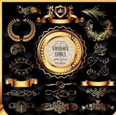 金色精美徽章
