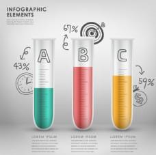 彩色试管信息图
