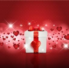 爱心和礼盒