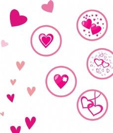 粉色卡通心形