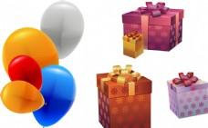 矢量礼物 气球