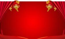 节日红色展板