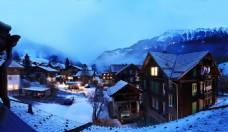 瑞士小镇夜景