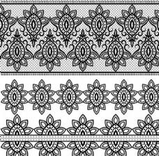 黑白装饰花纹
