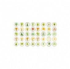 树木环保网页APP图标模板