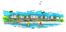 汕尾市南海湾畔空中别墅设计构思