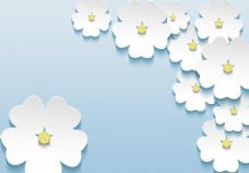 3D小花背景墙