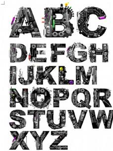 机械字体矢量