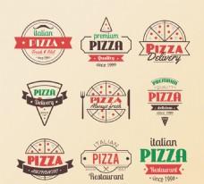 复古披萨标志