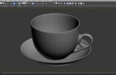 咖啡杯碟模型