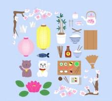 彩色日本元素图标