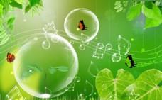 春天清新绿色背景