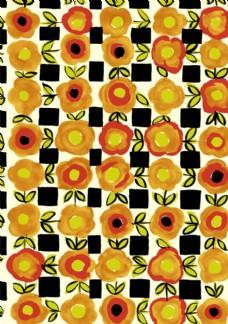 平铺抽象花朵