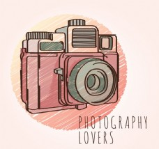 彩绘照相机