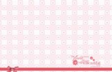 粉色爱心背景相册模版