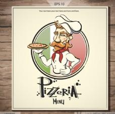 卡通廚師菜單設計矢量素材
