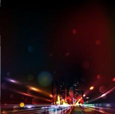 夜晚城市灯光