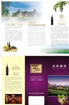 进口红酒葡萄酒三折页