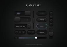 黑色主题的UI Kit套件