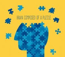 蓝色大脑拼图