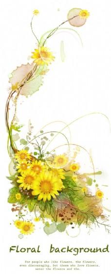 黄色向日葵花藤