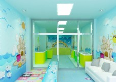 婴幼儿游泳馆效果图