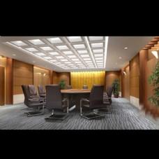 小会议室全套模型含贴图灯光材质
