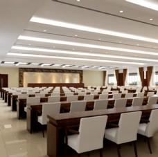大会议室带贴图灯光材质全套模型