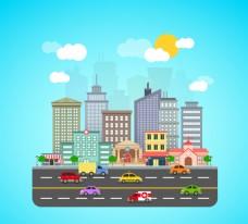道路和建筑
