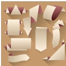 折纸矢量标签