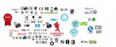 QS 等标志各种品牌标 矢量图