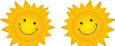 卡通太阳矢量图